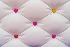 abstract roze hart met achtergrond Royalty-vrije Stock Fotografie