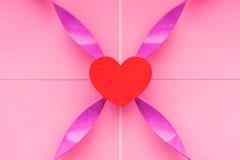 abstract roze hart met achtergrond Stock Fotografie