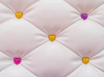 abstract roze hart met achtergrond Stock Foto