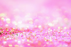 Abstract roze Licht Bokeh-Goud Als achtergrond Stock Fotografie