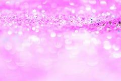 Abstract roze Licht Bokeh-Goud Als achtergrond Royalty-vrije Stock Afbeelding