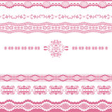 Abstract roze lijnornament Stock Foto's
