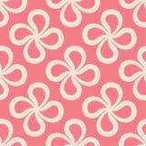 Abstract roze naadloos patroon voor textiel, stoffen of behang royalty-vrije illustratie