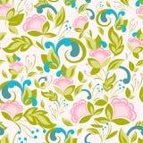 Abstract roze patroon met bloemenachtergrond Stock Foto's