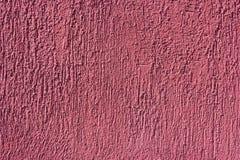 Abstract roze pleister Ruwe muur Textuur van pleister Reparatie en bouw Royalty-vrije Stock Afbeeldingen