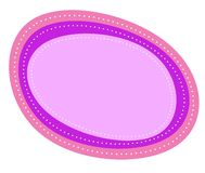 Abstract Roze Purper Ovaal Embleem Stock Afbeeldingen