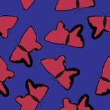 Abstract roze vlinders naadloos patroon vector illustratie