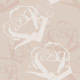 Abstract Rozenpatroon stock illustratie
