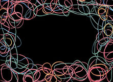 Abstract Rubber Band Frame Stock Image