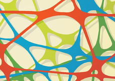 Abstract rubber band of network. In bright colors Stock Images