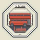Abstract rubber stamp with London, England. Inside, vector illustration royalty free illustration