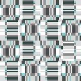 Abstract ruffle geometric seamless pattern. Pixel blink texture Stock Photo