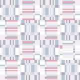 Abstract ruffle geometric seamless pattern. Pixel blink texture Stock Images
