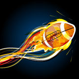 Abstract rugby ball Stock Photography