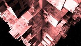 Abstract ruimteschip sc.i-FI Rood Royalty-vrije Stock Foto's