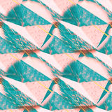 Abstract rumpled triangular background texture. Seamless polygonal pattern for your design. Creative template. Stock Photography