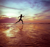 Abstract runner royalty free stock image