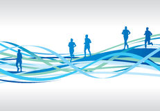 Abstract runners Royalty Free Stock Photography