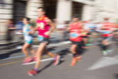 Abstract Runners with Blur Royalty Free Stock Photo