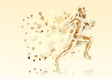 Abstract running man Royalty Free Stock Image