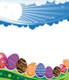Abstract rural Easter background Stock Image