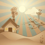 Abstract rural scene Stock Photo