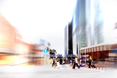 Abstract rush hour. Abstract business rush hour. Motion blurred royalty free stock photography