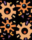 Abstract Rusty Gears Pattern Stock Photography