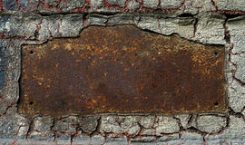 Abstract rusty grunge metal frame Stock Photography