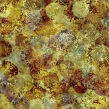 Abstract rusty grunge texture with circles looks like coins Royalty Free Stock Images