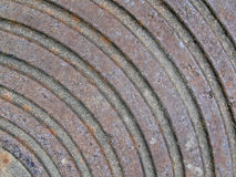 Abstract rusty metall surface with round rings, Royalty Free Stock Images