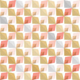 Abstract 70s geometry. Vector seamless pattern. Simple geometric background. Blush pink and rose gold colors Royalty Free Stock Photo