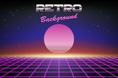Abstract 80s retro background. Vector illustration Royalty Free Stock Image
