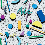 Abstract 80s or 90s background pattern, vector  Stock Photos