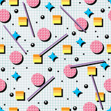 Abstract 80s or 90s background pattern, vector  Stock Image