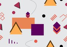 Abstract 80`s-90`s style seamless background. Geometric seamless. Background vector illustration