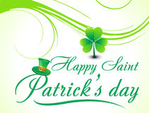 Abstract s.t.patricks day background with floral Royalty Free Stock Photography