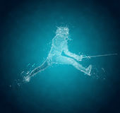 Abstract Sabre Fencer Stock Image