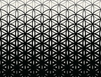 Abstract sacred geometry black and white gradient flower of life halftone  pattern. Background Stock Photos