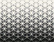 Abstract sacred geometry black and white gradient flower of life halftone pattern. Background stock illustration