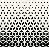Abstract geometric pattern. Abstract sacred geometry black and white grid halftone cubes pattern royalty free illustration