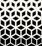 Abstract sacred geometry black and white grid halftone cubes pattern. Background Royalty Free Stock Photo
