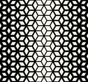 Abstract sacred geometry black and white grid halftone cubes pattern. Background Royalty Free Stock Images