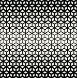 Abstract sacred geometry black and white grid halftone cubes pattern. Background royalty free illustration