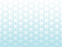Abstract sacred geometry blue gradient flower of life halftone   pattern. Background Royalty Free Stock Image