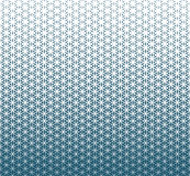 Abstract sacred geometry blue gradient flower of life halftone   pattern. Background Royalty Free Stock Photo