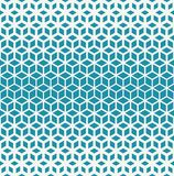 Abstract sacred geometry blue grid halftone cubes pattern background. Abstract sacred geometry blue grid halftone cubes pattern vector illustration
