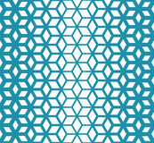 Abstract sacred geometry blue grid halftone cubes pattern Royalty Free Stock Image