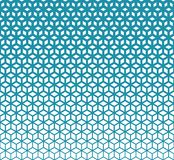 Abstract sacred geometry blue grid halftone cubes pattern. Background vector illustration