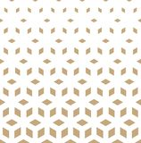 Abstract sacred geometry golden grid halftone cubes pattern. Background vector illustration